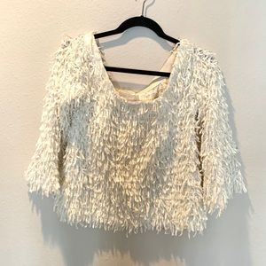 Off the Shoulder Fringe Top!!
